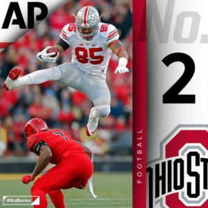Buckeyes Leap to No. 2 in Associated Press Top 25 Poll